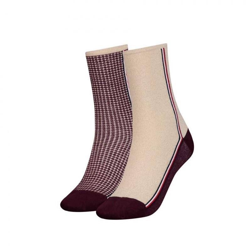 TH-493016001-070-BiPack calzini Donna-Bordeaux