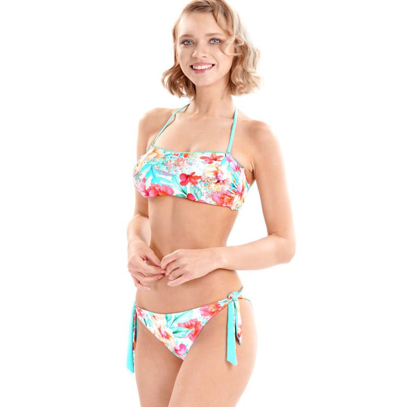 VI-20-042-Bikini a fascia Floral Tribe paillettes e fantasia floreale