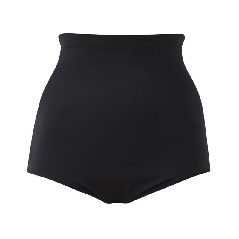 EL-ES-7604BLK-Slip costume da bagno vita altissima contenitivo Essential- nero