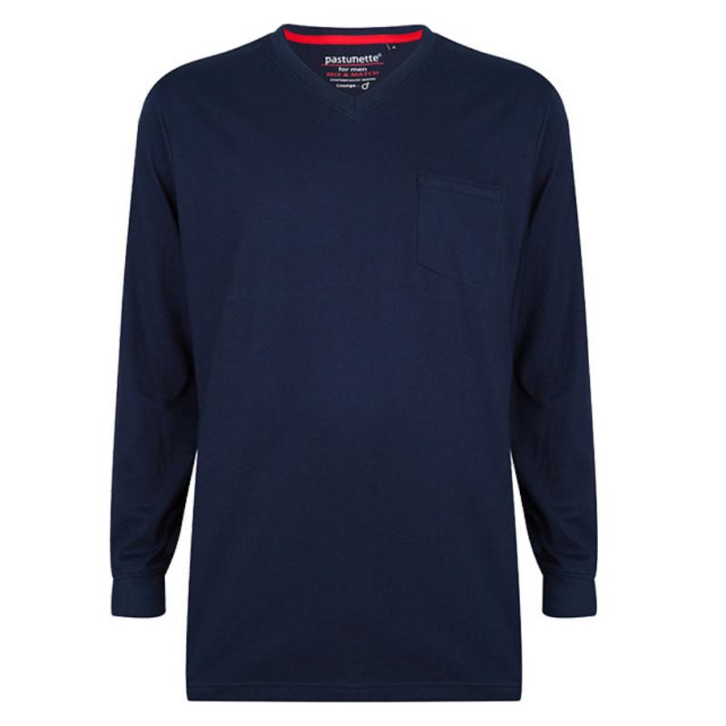 PA-4399-621-2- Maglia pigiama uomo manica lunga - serie Mix and Match - blu