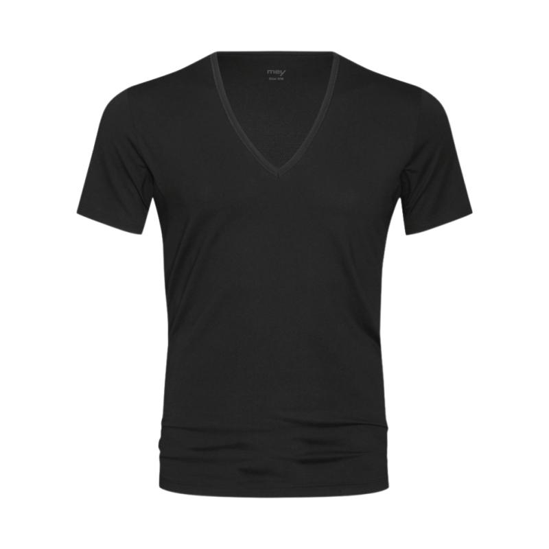 MEY-46038-123- Maglia uomo mezza manica serie Dry Cotton Functional - nero