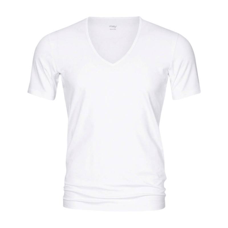 MEY-46038-101- Maglia uomo mezza manica serie Dry Cotton Functional - bianco
