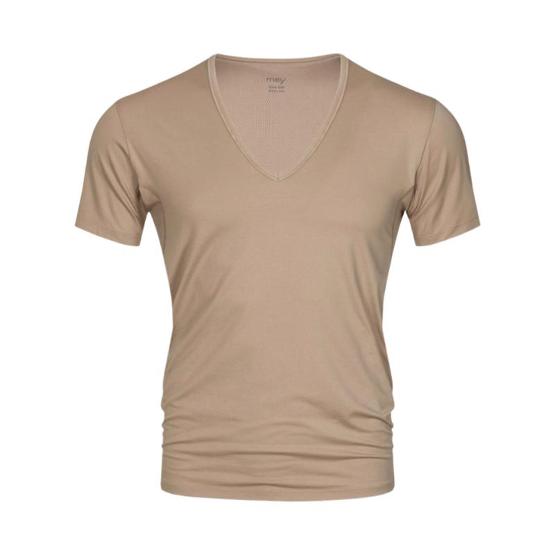 MEY-46038-111- Maglia uomo mezza manica serie Dry Cotton Functional - beige